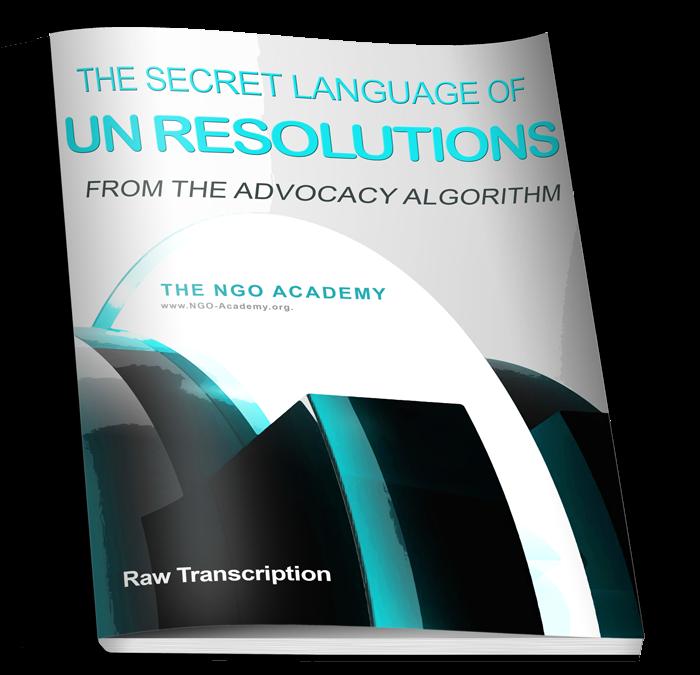 The Secret Language of UN Resolutions
