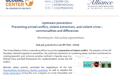 Civil Society Workshop on Conflict Prevention